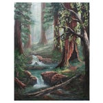 Image of Redwood Trees Painting
