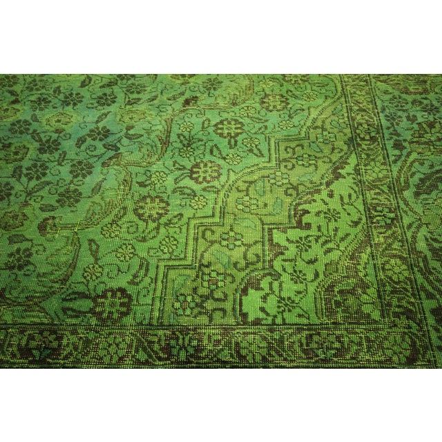 Lime Green Overdyed Rug