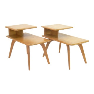 Heywood Wakefield Tiered Side Tables - A Pair
