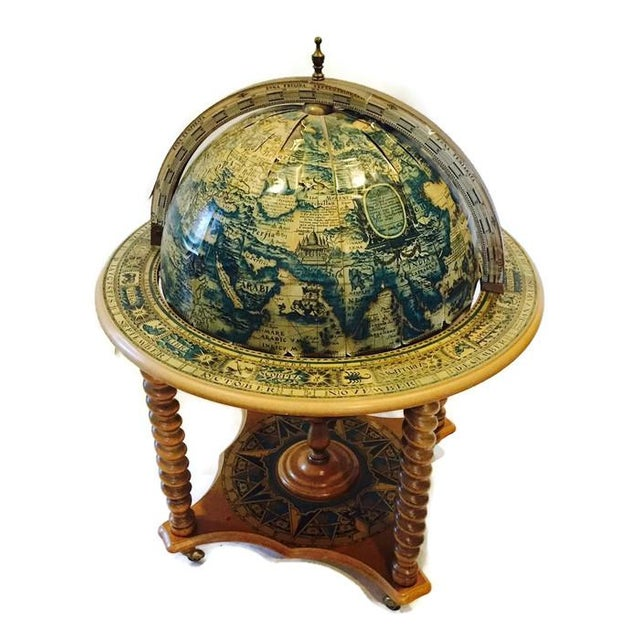 Mid-Century World Globe Bar Cart - Image 2 of 10