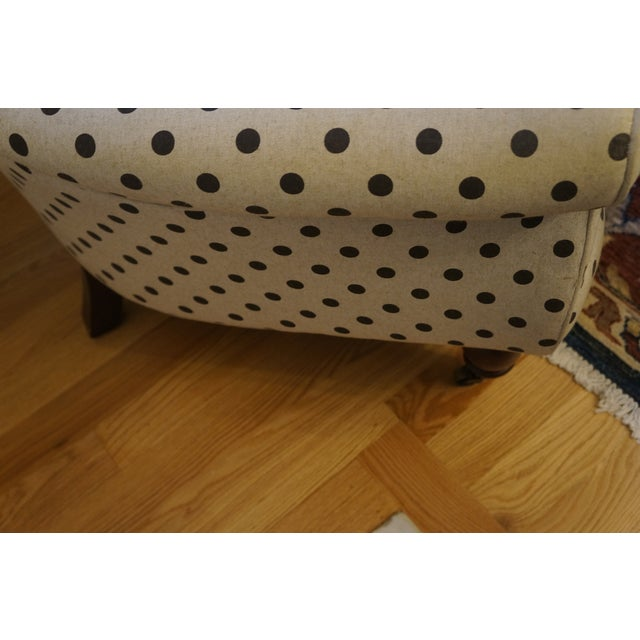 Anthropologie Brown Polkadot Astrid Chair - Image 10 of 11