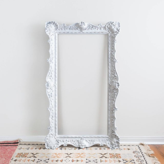 vintage extra large ornate white picture frame image 2 of 6 - Extra Large Frames