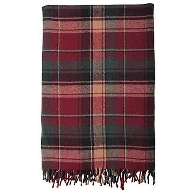 Vintage Plaid Picnic Blanket - Image 1 of 2
