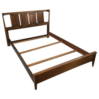 Mid-Century Walnut Full-Size Bed