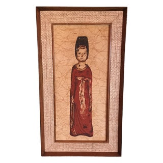 Han Palace Art Co. 1950s Batik Scroll