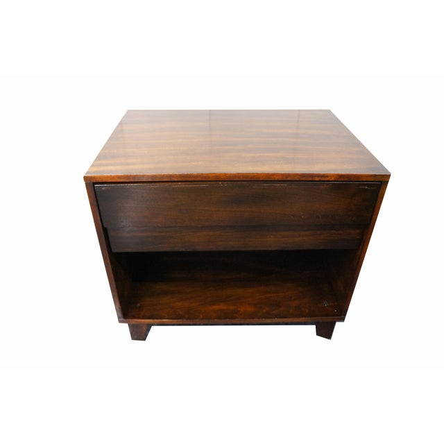 Image of Mid-Century Modern Nightstands- A Pair