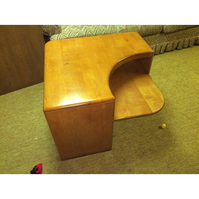 Image of Heywood Wakefield Champagne Corner Table
