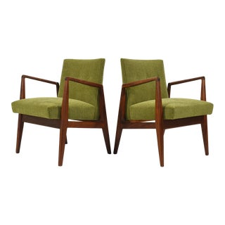 Pair of Walnut Armchairs by Jens Risom