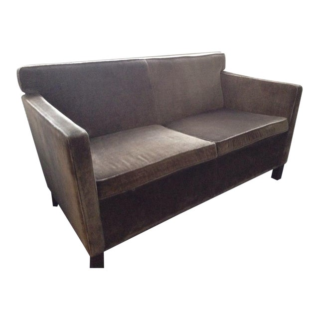 Knoll Krefeld Chocolate Loveseat Sofa - Image 1 of 7