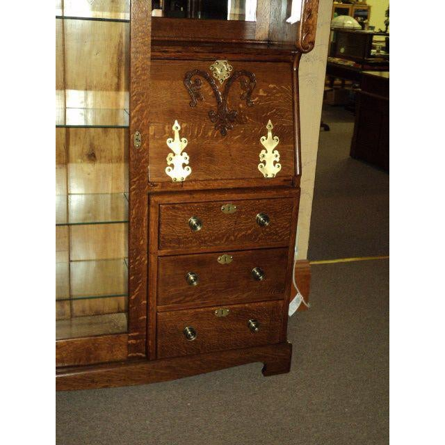 Antique Oak Display Cabinet - Image 4 of 7 - Antique Oak Display Cabinet Chairish