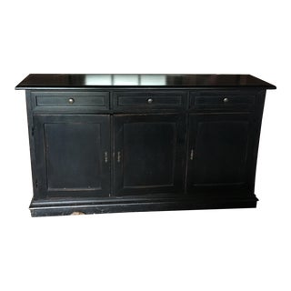 Ballard Designs Louis XVI Black Wood Sideboard