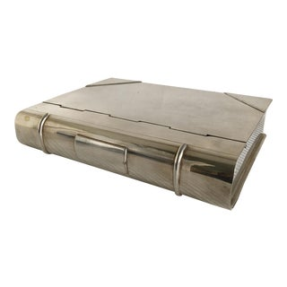 Ralph Lauren Silver Plate Book Box