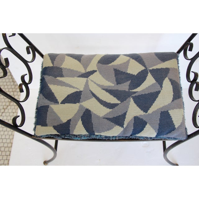 1960s Arthur Umanoff Style Iron Bench - Image 6 of 6