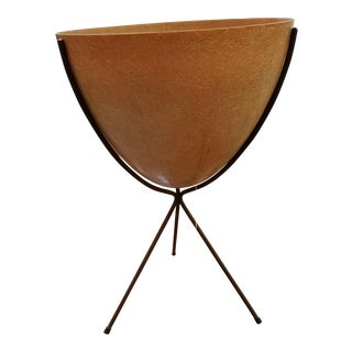 Mid-Century Bullet Planter on Stand