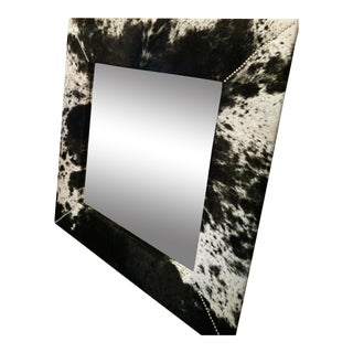 Gambrell Renard Black & White Cowhide Mirror