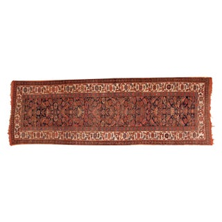 "Antique Bijar Rug Runner - 3'7"" x 10'7"""