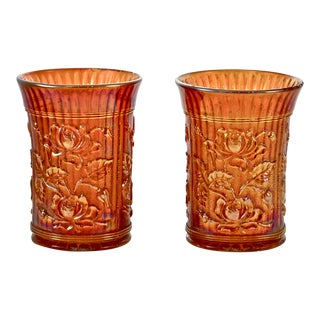 Iridescent Gold Vessels - A Pair