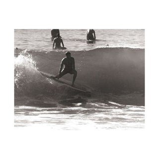 Black & White Vintage Surfer Photo IX