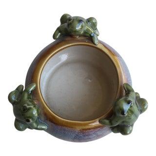 Majolica Style Petite Frog Vessel