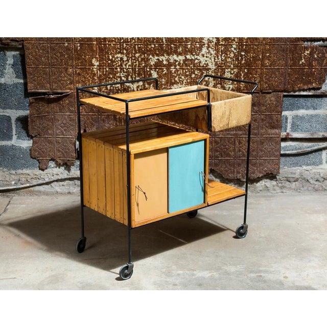 Vintage Arthur Umanoff Rolling Bar Cart - Image 5 of 11