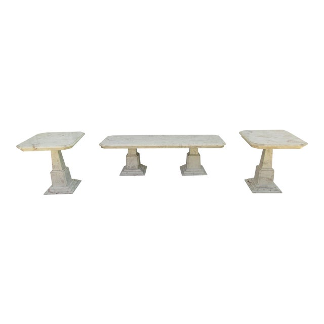 Marble End Tables and Coffee Table - Set of 3 - Image 1 of 11