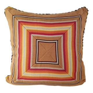Awning Stripe Cotton Pillow Cover