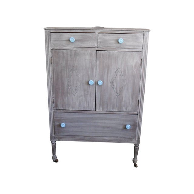 Image of Painted Antique Armoire