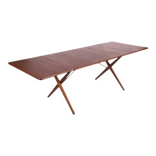 AT-309 dining table with cross frame by Hans J. Wegner for Andreas Tuck, 1952