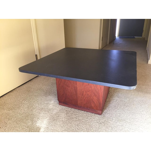 Mid-Century Modern Slate Top Coffee Table - Image 2 of 5