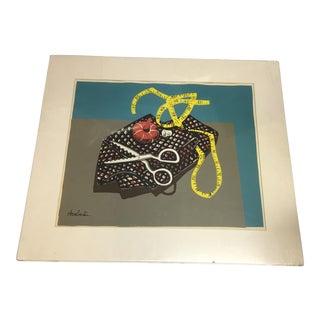 Carolyn Haeberlin Sewing Pieces Silkscreen Print