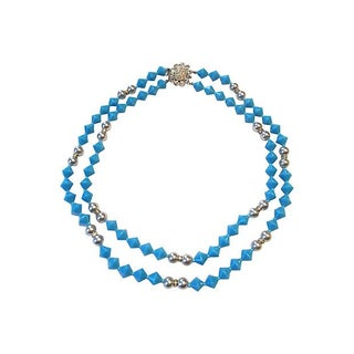 Marchese Blue Bead Glass Necklace