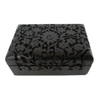Dark Stained Decorative Wood Box