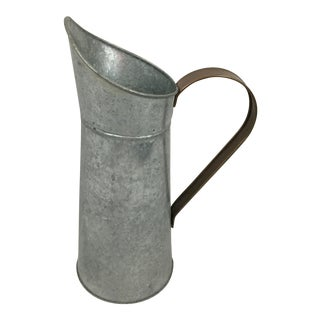 Tin and Copper Ewer/Pitcher