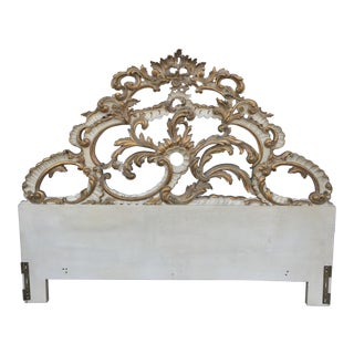 Vintage Carved Gold Gilt Headboard