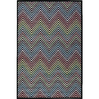 Flawless Multi Color Chevron Rug - 5′3″ × 7′7″