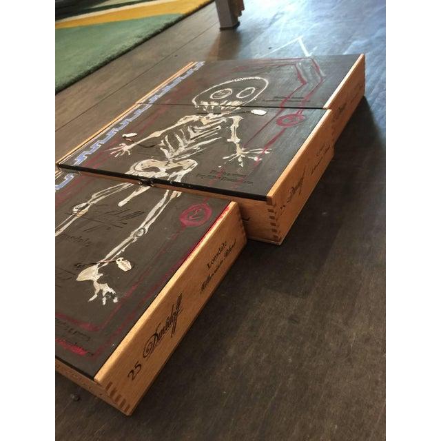 Basquiat Inspired Mixed Media Cigar Box Wall Art - Image 4 of 4