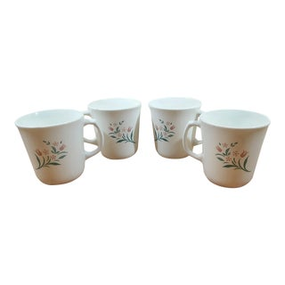 Corning Rosemarie Design Coffee Mugs - Set of 4