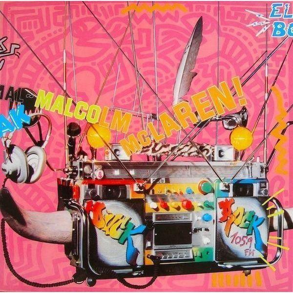 Image of Vintage Original Keith Haring Vinyl Cover Art