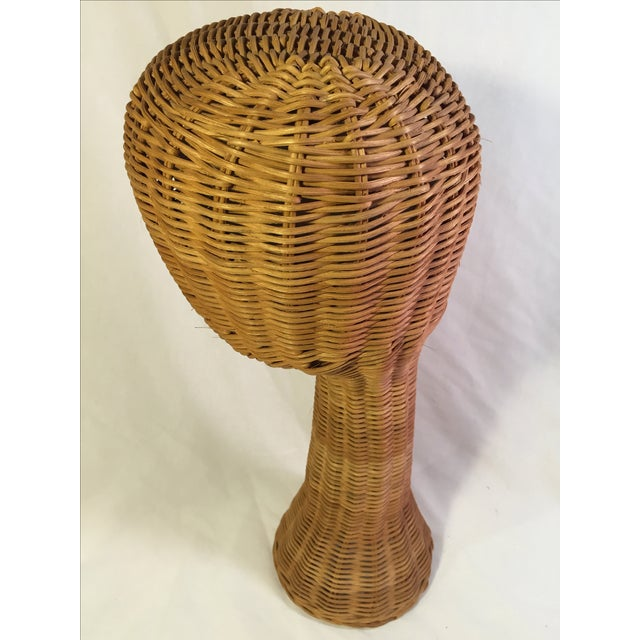Image of Mid-Century Natural Wicker Hat Stand