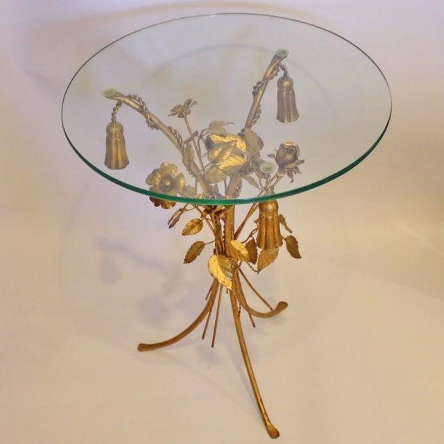 Vintage Italian Gilt Tassel & Rope Table - Image 3 of 5