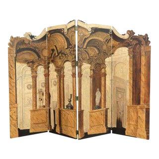 Maitland-Smith Italian Neoclassical Four Panel Screen