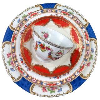 Vintage Mismatched Fine China ~ 5 Piece Place Setting