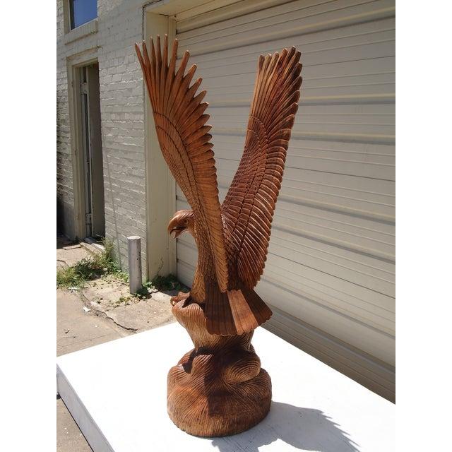 Wood Carved Eagle Sculpture - Image 3 of 6