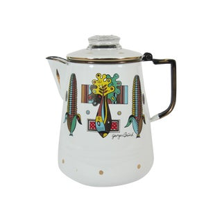 Mid-Century Georges Briard Enamel Coffee Pot