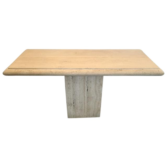 Image of Italian Travertine Console Table