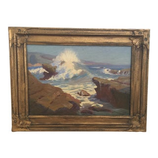California Coastline Framed Painting