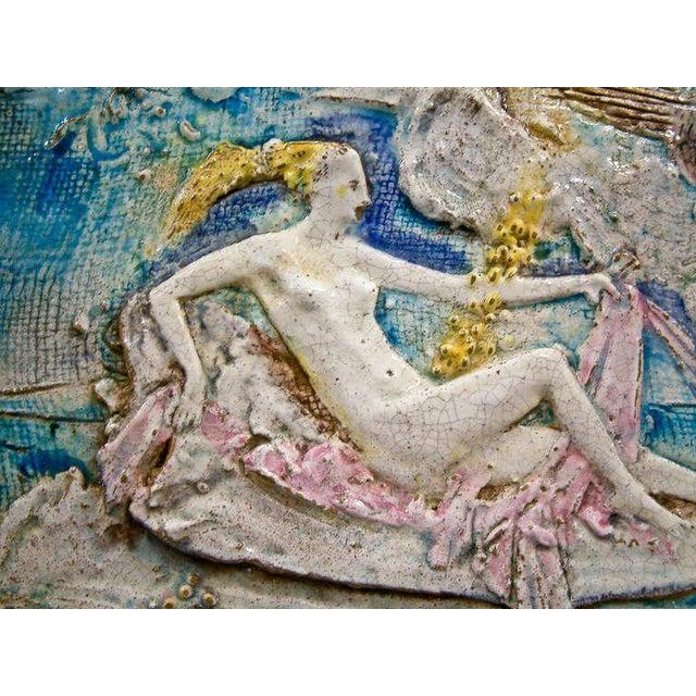 Ugo Lucerni Majolica Wall Relief - Image 3 of 8