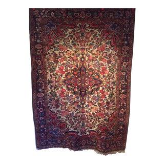 "1880s Oriental Floral Handmade Rug - 4'11"" X 6'11"""