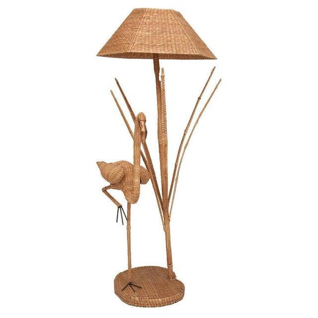 Mario Lopez Torres Flamingo Wicker Floor Lamp - Image 2 of 3