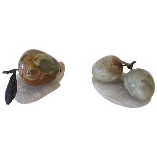 Polished Onyx Stone Fruit - A Pair